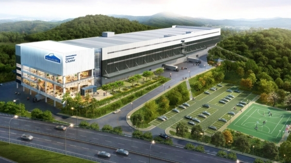 Image of the used semiconductor distribution cluster being built by SurplusGLOBAL in Yongin.