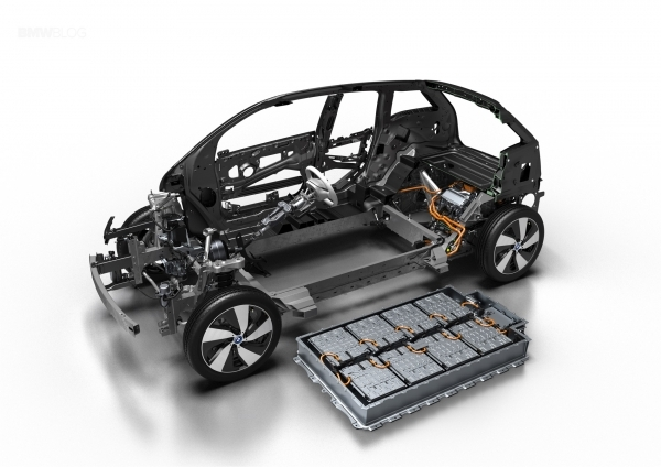 BMW i3 electric car with Samsung SDI square battery