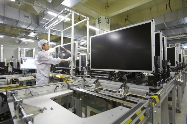 Samsung Display's LCD production lines
