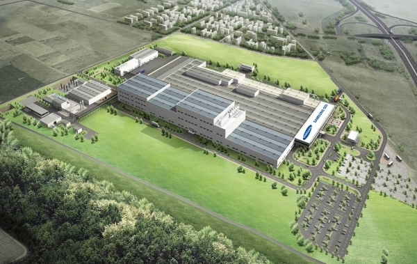 View of Samsung SDI's EV battery plant in Göd of Hungary.